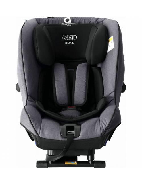 Silla Auto Minikid 2.0 Gris Axkid Plus Test 0-25 kg Anclajes Low Tether ASIP Protección Lateral Seguridad Sueca