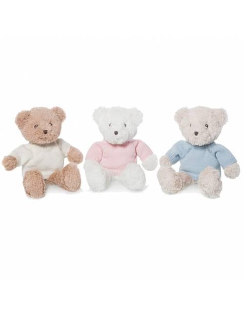 Peluche Oso Blanco Teddy Jersey Rosa 35 cm Artesavi