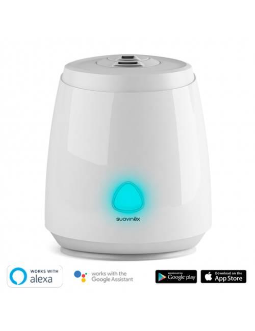 Humidificador SMART Suavinex (Vapor frío, Silencioso, Ultrasónico, Aromaterapia, Luz Nocturna Led, Control con Aplicación Móvil)
