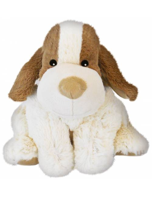 Peluche Warmies Perrita Blanca Y Marron Extraible Anti-Colico Semillas
