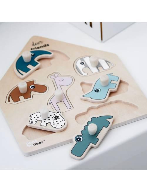 Juguete Encajable ó Puzzle Done by Deer Deer Friends Multicolor