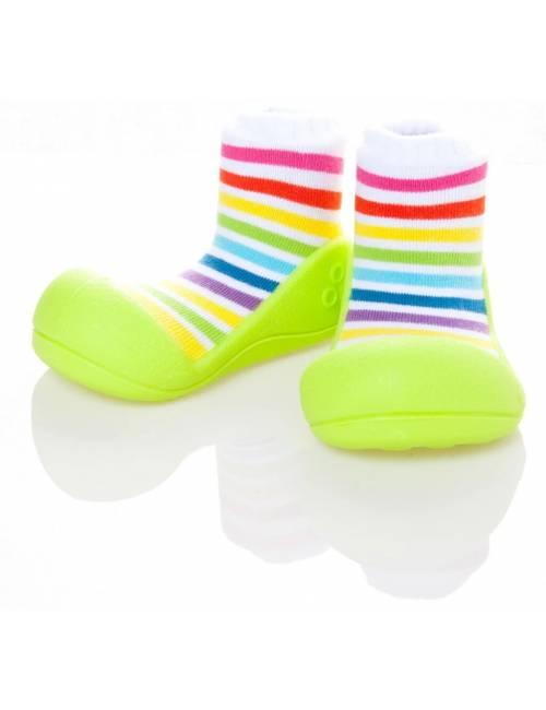 Zapatos Attipas Rainbow Verde 21.5 Calzado Primeros Pasos Rainbow Green