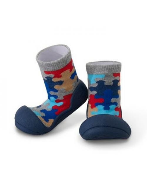 Zapatos Attipas Puzzle Azul Marino Calzado Primeros Pasos Puzzle Navy
